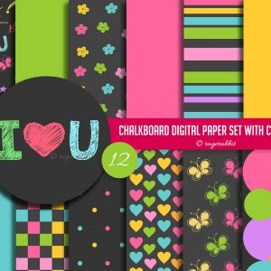Chalkboard Kids Drawing Paper