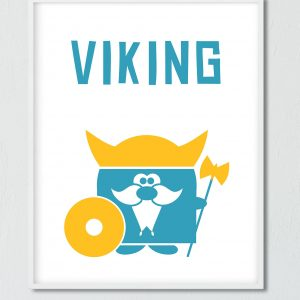 Printable Little viking Poster