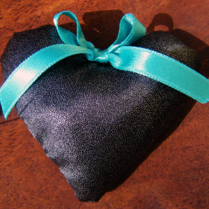 Black Handmade Hearts