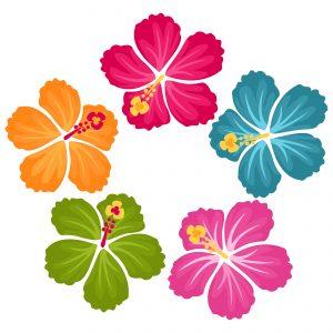 Clip Art Hibiscus Flowers