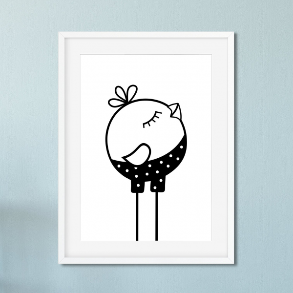 Nursery Print Little Bird