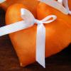 Orange Handmade Hearts