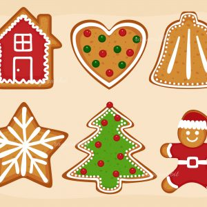 Christmas Set Gingerbread Cookies