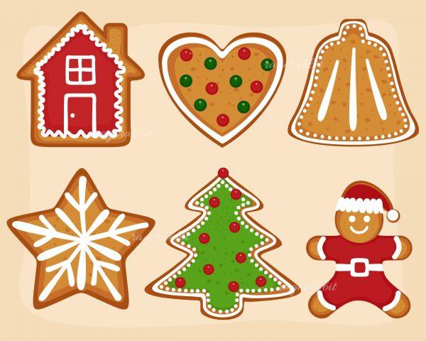 Christmas Set Gingerbread Cookies