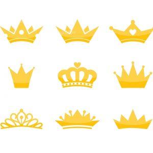 Crowns SVG Files Shapes