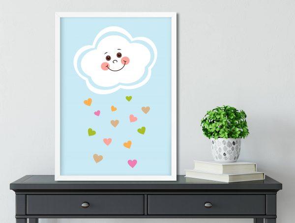 Cloud Wall Art Nursery Print