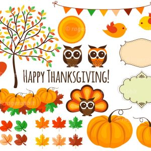 Thanksgiving Set Vector Decorations