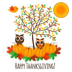 Thanksgiving Illustrations Vector Set