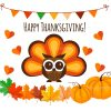 Thanksgiving Illustrations Decorations Set