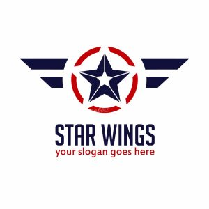 Star Wings Vector Illustration Logo Template