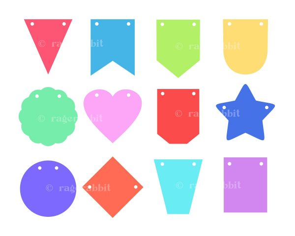SVG Basic Shapes Banners Design