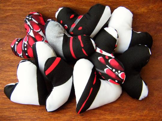 Halloween Fabric Gifts Hearts Handmade