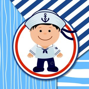 Nautical Set Clip Arts Boy Digital Papers