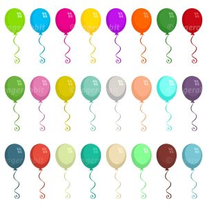 Illustrations Balloons Vector Set