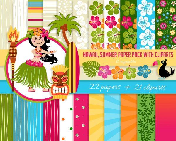 Hawaiian Bundle Clip Arts