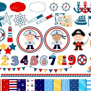Marine Set of Clip Arts
