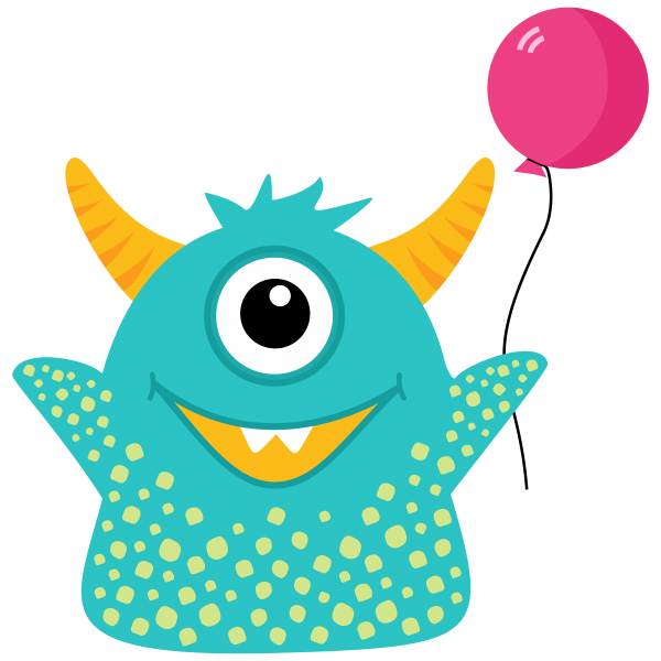 Blue Monster Clip Art Freebie