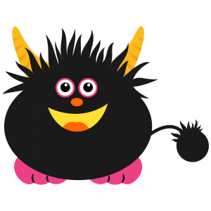 Monster Black PNG File Clip Art