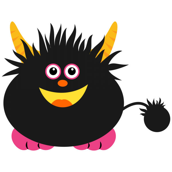 Monster Black PNG File Clip Art