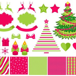 Decorations Cristmas Vector Illustrations