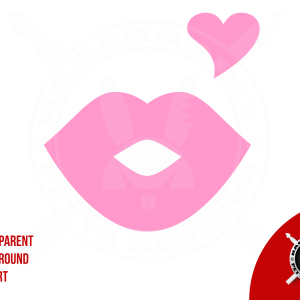 Heart clip art and kissing lips