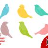 svg cut files sparrow birds