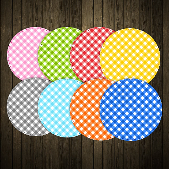 Gingham Stitched Circles