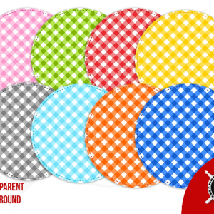 Vector Stitched Gingham Circles