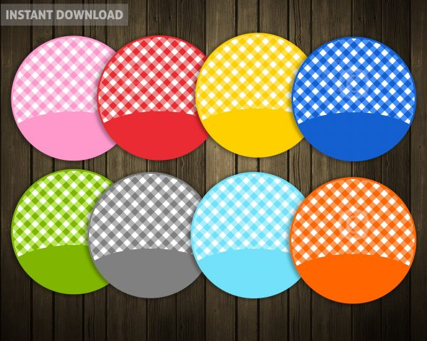 Gingham Style Banners Fake applique