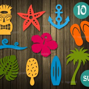 Beach Elements icons SVG cricut files