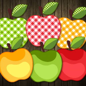Vector SVG Apples Fake Applique