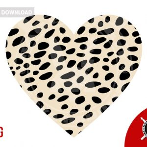 Cheetah animal print on heart shape