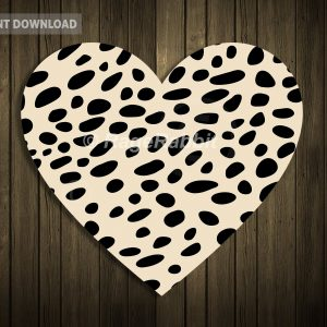 Heart with cheetah print