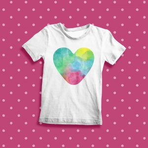 heart shape watercolour pattern
