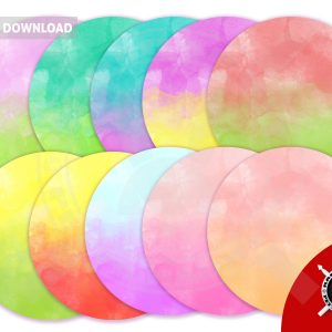 watercolour ombre pattern circle banners