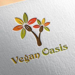 Vegan Oasis Exclusive Logo design