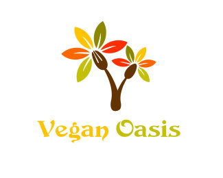Vegan Oasis Exclusive Logo Design